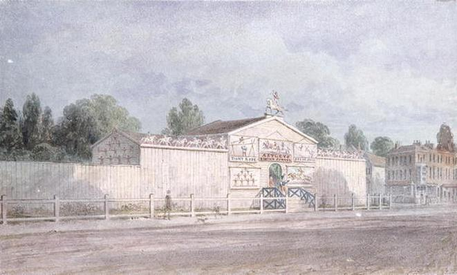 Exterior view of Astley's Amphitheatre, 1777