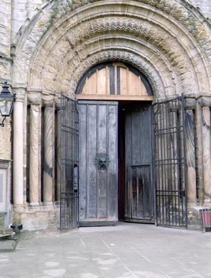 View of the North Door of Durham Cathedral