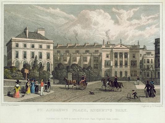 St. Andrews Place, Regents Park, 1828