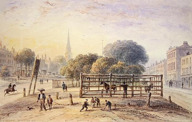 View of Islington Pound, 1850