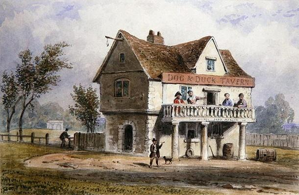 A View of the Old Dog and Duck, St. George's Fields