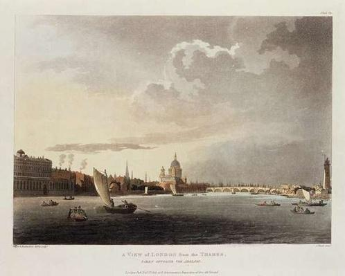 A View of London from the Thames, 1809