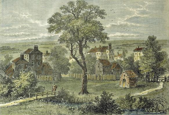 View of Marylebone, from the site of the present Wigmore Street