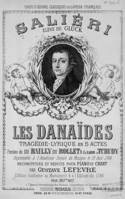 Advertisement for 'Les Danaides', 19th April 1784