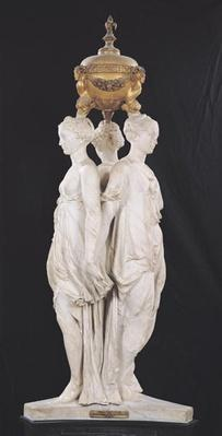 The Three Graces, funerary monument with the heart of Henri II