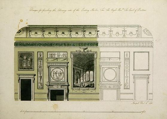 Headfort House, Eating Parlor, Chimney Piece, 1775