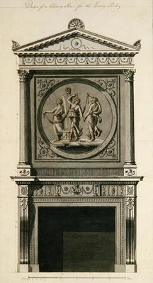 Headfort House. Eating Parlor, Chimney Piece, 1771