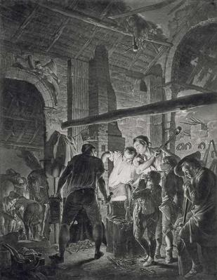 The Blacksmith's Shop, engraved by Richard Earlom