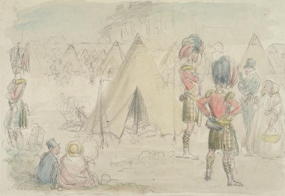 Highland Regiment in Camp