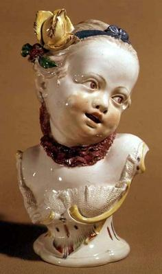 Nymphenberg bust of a young girl, c.1761