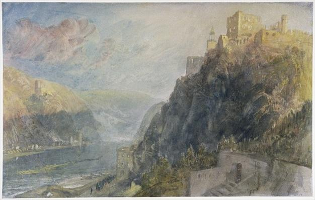 Rheinfels looking to Katz and Gourhausen, 1817