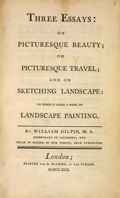 Title Page, from 'Three Essays: on Picturesque Beauty, on Picturesque Travel, and on Sketching...'1792
