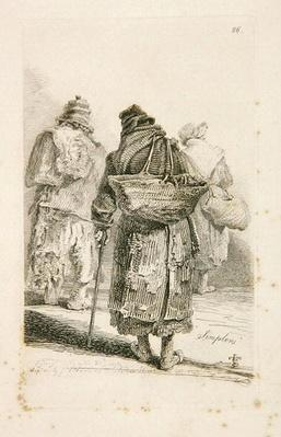 The Simplers, plate 26 from 'The Cries of London Exhibiting Several of the Itinerant Traders...'