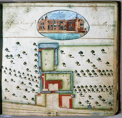 South View of Kentwell Hall, from the 'Survey of the Estate of Richard Moore, Esq. Kentwell Hall', Suffolk, 1777