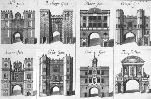 The Eight Gates of the City of London