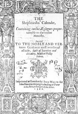 Frontispiece of 'The Shepheardes Calender' by Esmond Spenser