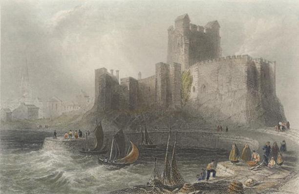View of Carrifergus Castle