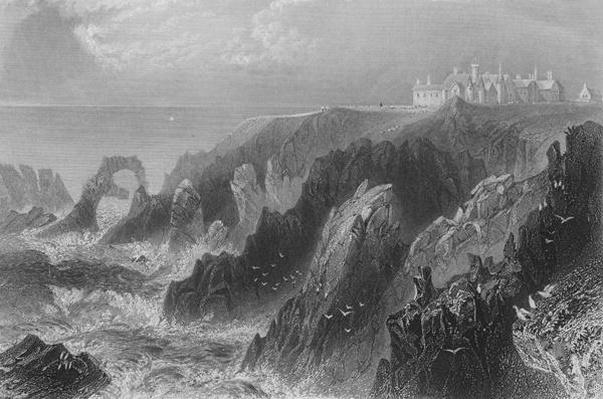 View of Slaines Castle, near Peterhead