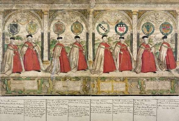 Imaginary Composite Procession of the Knights of the Garter at Windsor, engraved by Marcus Gheeraerts the Elder