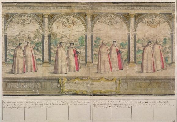 Imaginary Composite Procession of the Order of the Garter at Windsor, engraved by Marcus Gheeraerts the Elder