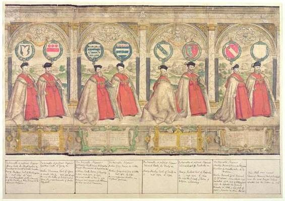 Imaginary Composite Procession of the Order of the Garter at Windsor, engraved by Marcus Gheeraerts the Elder 1576