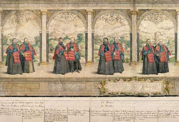 Imaginary Composite Procession of the Order of the Garter at Windsor, engraved by Marcus Gheeraerts