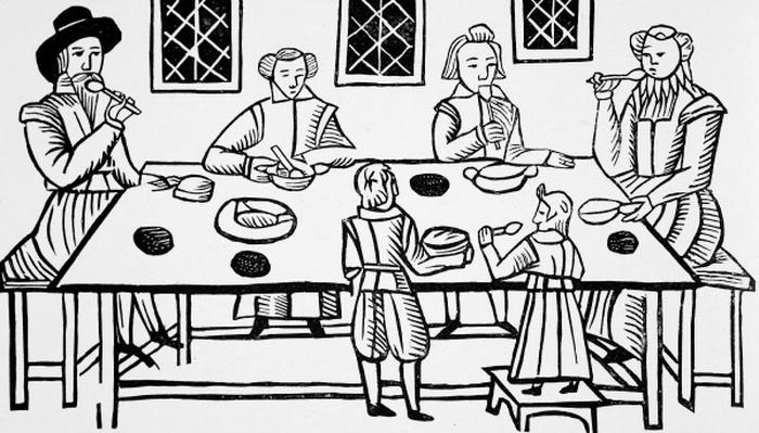 Dining at Home, from the Roxburghe ballads