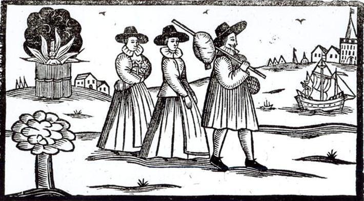 Pilgrims departing for the New World