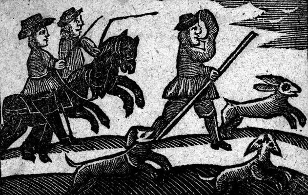 Hunting Scene, from 'A Book of Roxburghe Ballads'
