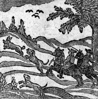 View of a Hunting Scene, from 'ABook of Roxburghe Ballads'