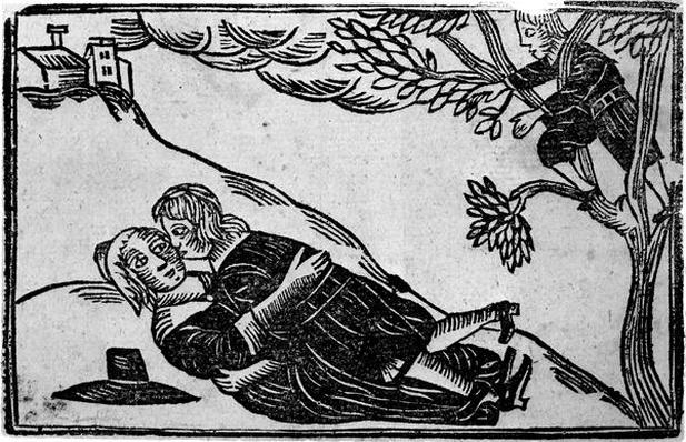 Two People having Sex, from 'A Book of Roxburghe Ballads'