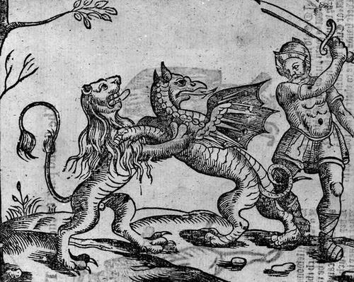 St George and the Dragon, from 'A Book of Roxburghe Ballads'