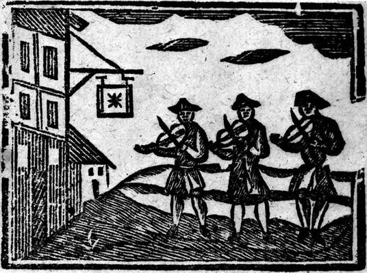 Three Fiddlers, from 'A Book of Roxburghe Ballads'