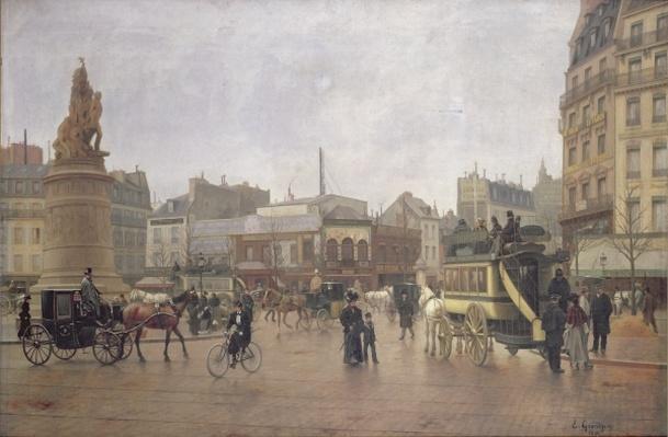La Place Clichy, Paris, 1896