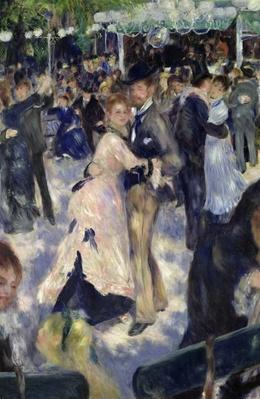 Le Moulin de la Galette, detail of the dancers, 1876