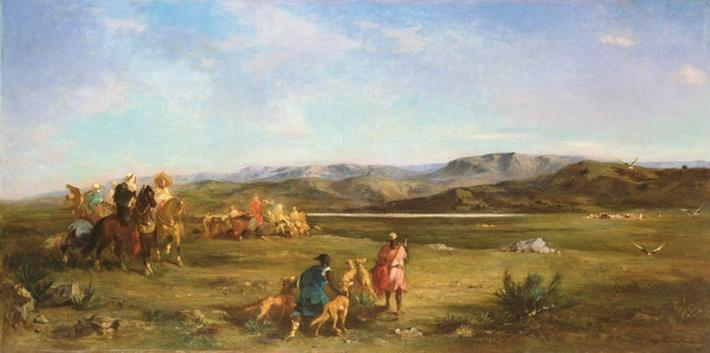 Gazelle Hunt in Chott el-Hodna, 1856