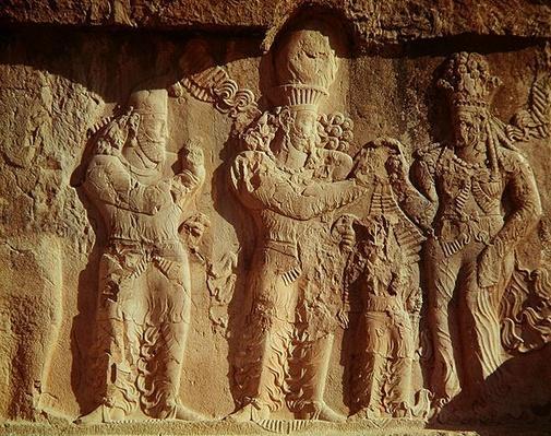Investiture of Narses by the Goddess Anahita, Sasanian, 226-651 AD