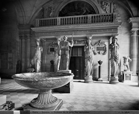 View of the Caryatids' Tribune in the Louvre Museum, 1897