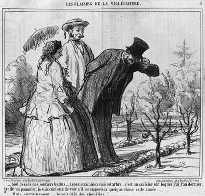 Les Plaisirs de la Villegiature, illustration from 'Le Charivari', 1858