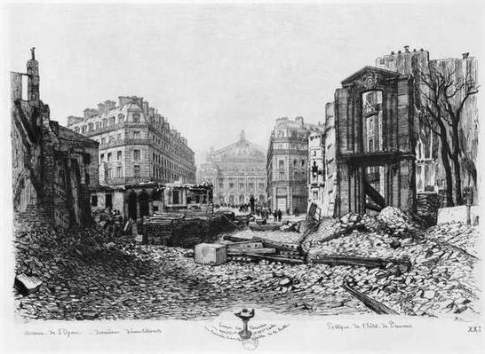 Building of Avenue de l'Opera, last demolitions, 1876