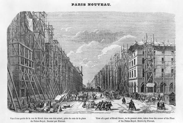New Paris, view of a part of Rivoli street, in its present state, taken from the corner of the Place of the Palais-Royal, 1877