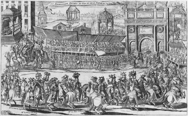 The Entry of Louis XIV and Marie-Therese of Austria in to Paris on 26th August 1660