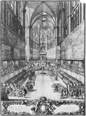 The Coronation of Louis XIV on 7th June 1654 in Reims cathedral