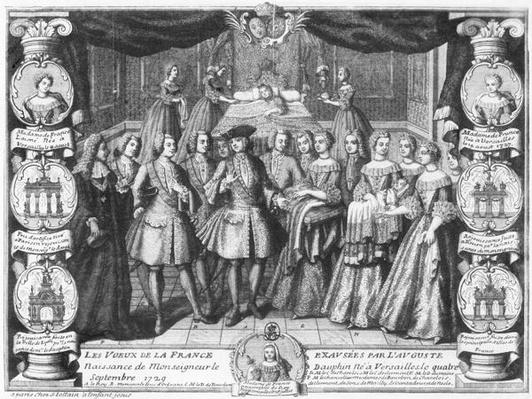 Birth of Louis, Dauphin of France, son of Louis XV, on 4th September 1729