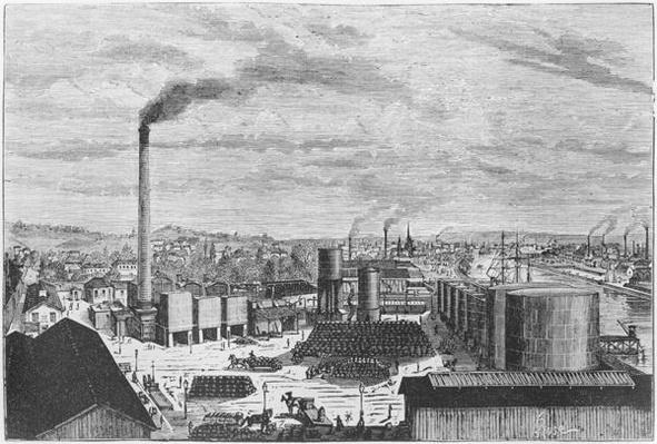 Deutsch Company, the factory at Rouen, illustration from 'Les Grandes Usines' by Julien Turgan, c.1880