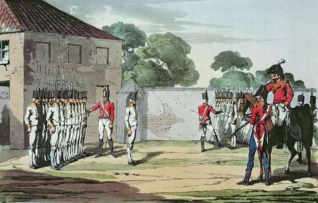 Soldiers Drilling, 1807