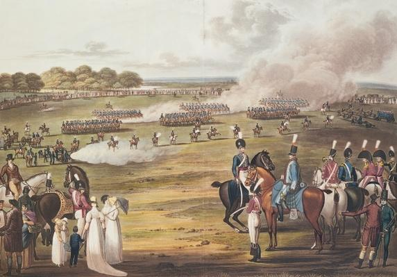 View of the London Volunteer Cavalry and Flying Artillery, 1805