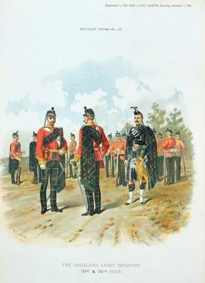 The Highland Light Infantry, from the supplement to the Art and Navy Gazette, 7th December, 1895