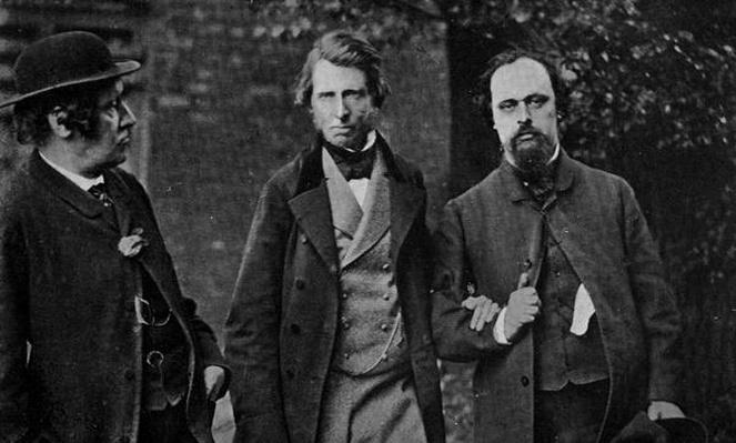 Portrait of William Bell Scott, John Ruskin and Dante Gabriel Rossetti, 1864
