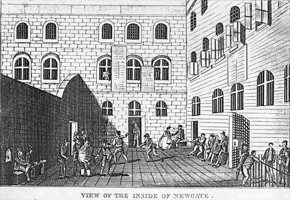 View of the Inside of Newgate, 1809